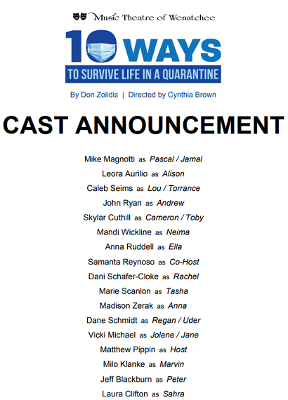 Quarantine Cast Announcement Article